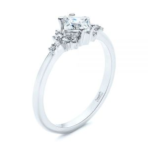 Princess Cut Diamond Cluster Engagement Ring - Image