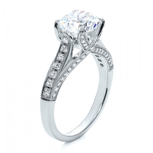with rubletr ring diamond cut rings a band engagement square chic pave and