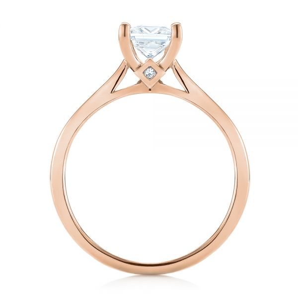 14k Rose Gold 14k Rose Gold Princess Cut Diamond Engagement Ring - Front View -  104091