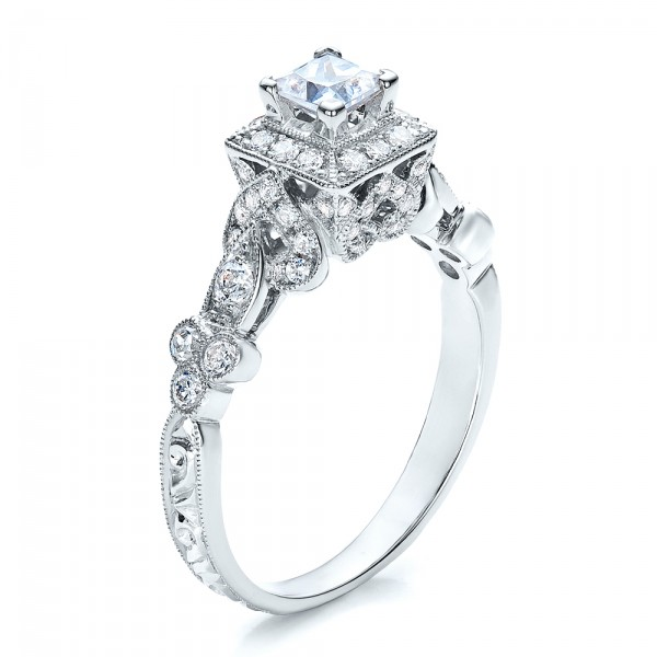 Princess Cut Diamond Engagement Ring - Vanna K