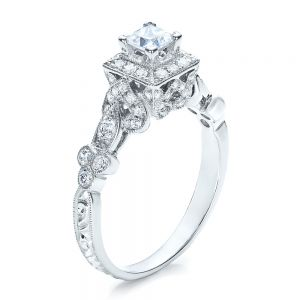 Princess Cut Diamond Engagement Ring - Vanna K - Image