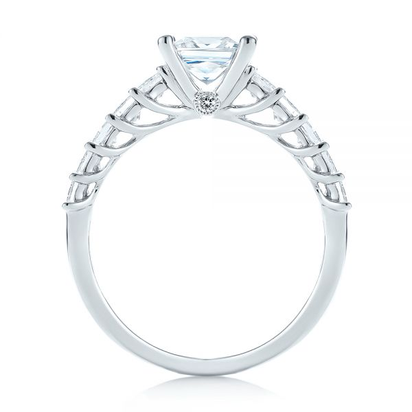 Princess Cut Diamond Engagement Ring - Front View -  103082 - Thumbnail