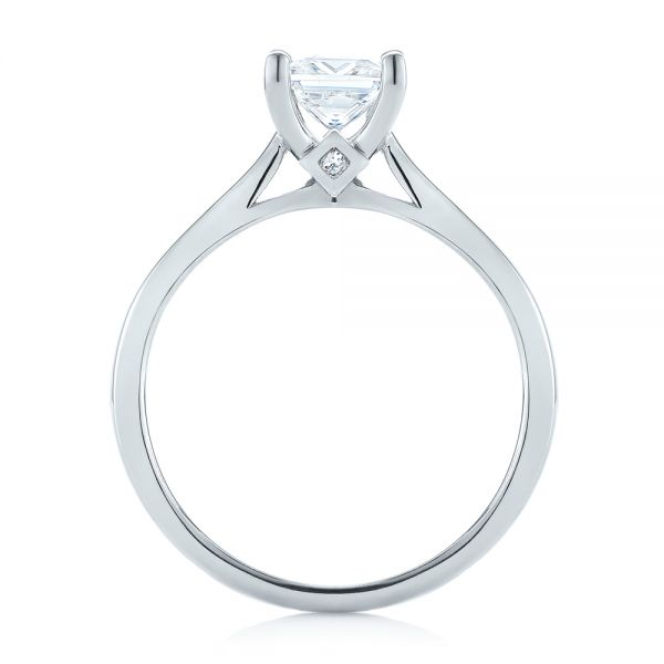 18k White Gold 18k White Gold Princess Cut Diamond Engagement Ring - Front View -