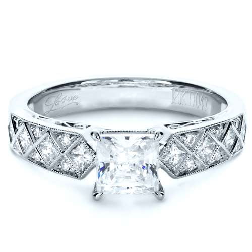 Princess Cut Diamond Engagement Ring 1144