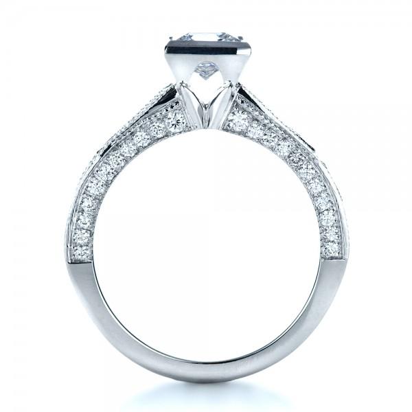 Princess Cut Diamond Engagement Ring - Finger Through View
