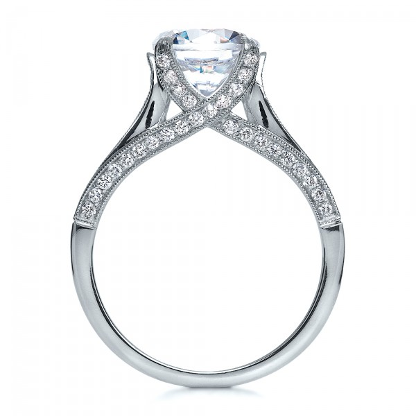Princess Cut Diamond Engagement Ring - Front View -  195 - Thumbnail