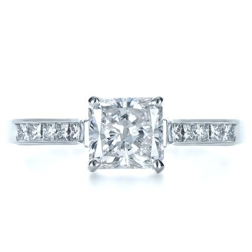 Princess Cut Diamond Engagement Ring - Top View