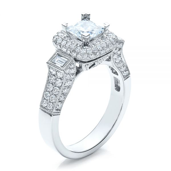 Princess Cut Diamond Halo Engagement Ring - Vanna K - Image