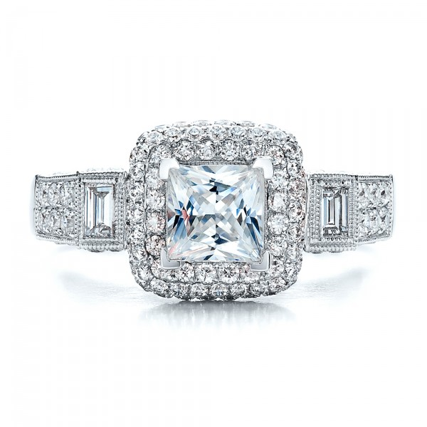 princess cut halo engagement ring vanna k 100048