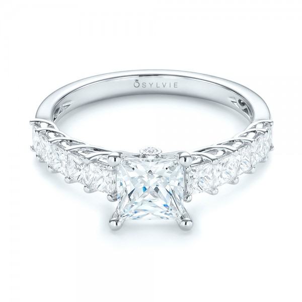 Princess Cut Diamond Engagement Ring - Laying View