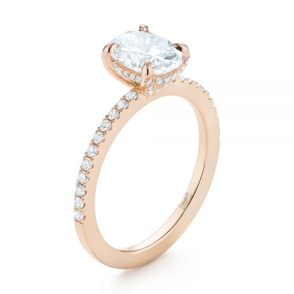 Rose Gold Diamond Engagement Ring - Image