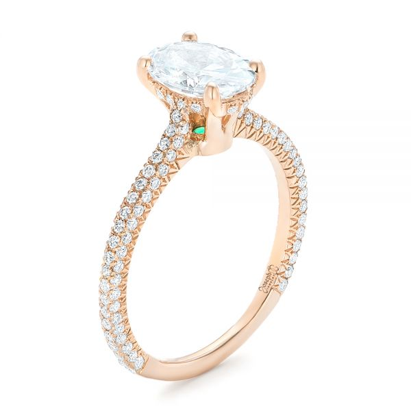 Rose Gold Oval Diamond Engagement Ring - Image