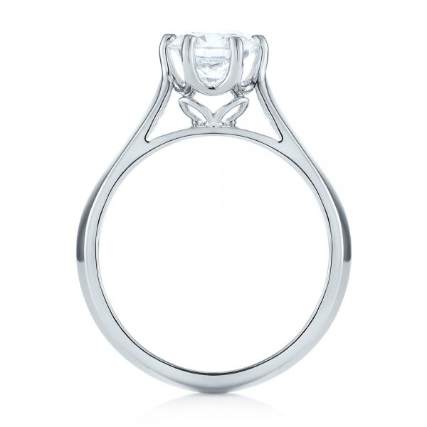 Solitaire Diamond Engagement Ring - Front View -  104114 - Thumbnail