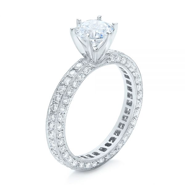 Six Prong Set Diamond Engagement Ring - Vanna K - Image