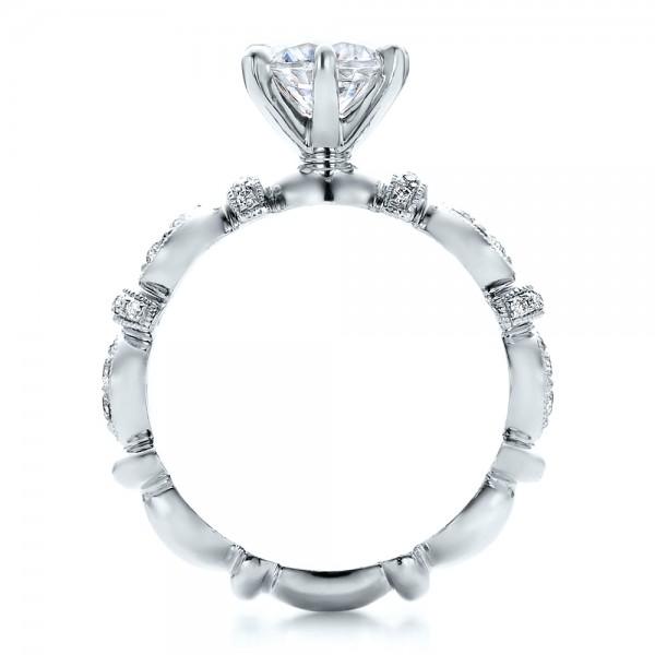 Diamond Engagement Ring - Kirk Kara - Finger Through View