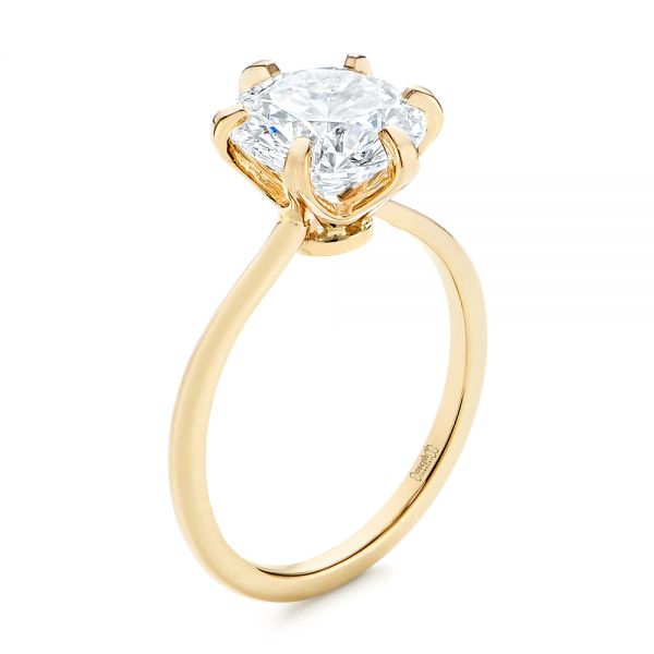 Six Prong Solitaire Diamond Engagement Ring - Image