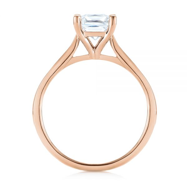 18k Rose Gold 18k Rose Gold Solitaire Diamond Engagement Ring - Front View -  104180
