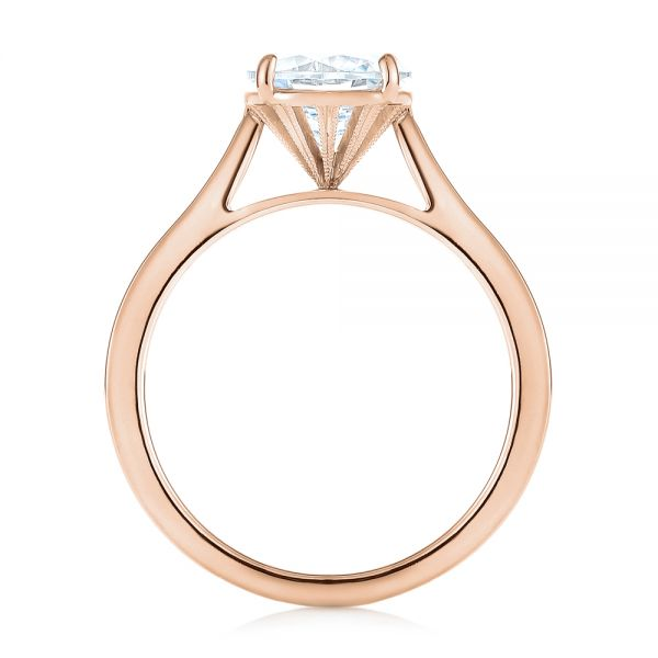 14k Rose Gold 14k Rose Gold Solitaire Diamond Engagement Ring - Front View -  104209