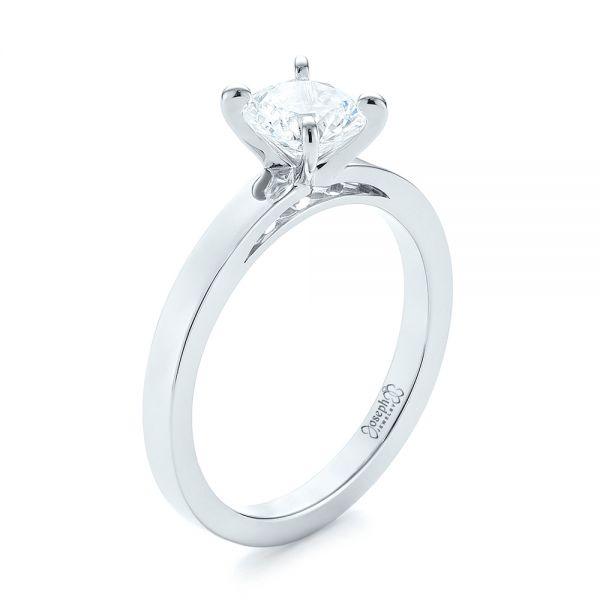 Solitaire Diamond Engagement Ring - Image
