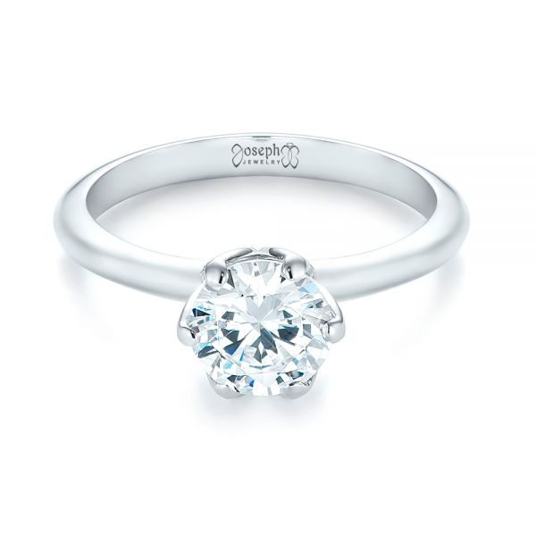 Solitaire Diamond Engagement Ring - Flat View -  103296 - Thumbnail