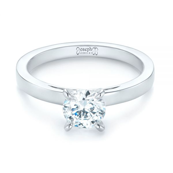 Solitaire Diamond Engagement Ring - Flat View -  103421 - Thumbnail
