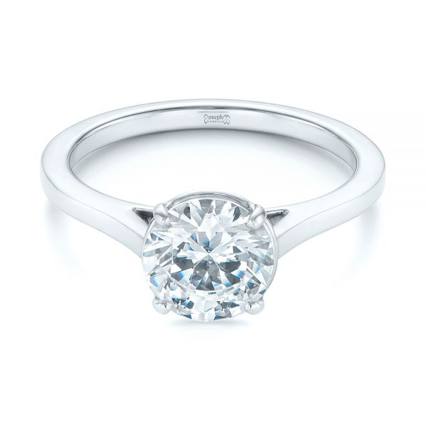 Solitaire Diamond Engagement Ring - Flat View -  104008 - Thumbnail