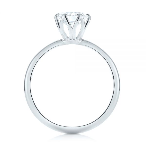 Solitaire Diamond Engagement Ring - Front View -  103296 - Thumbnail