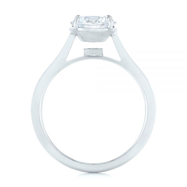 Solitaire Diamond Engagement Ring - Front View -  104008 - Thumbnail
