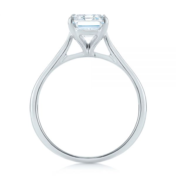 Solitaire Diamond Engagement Ring - Front View -  104210 - Thumbnail