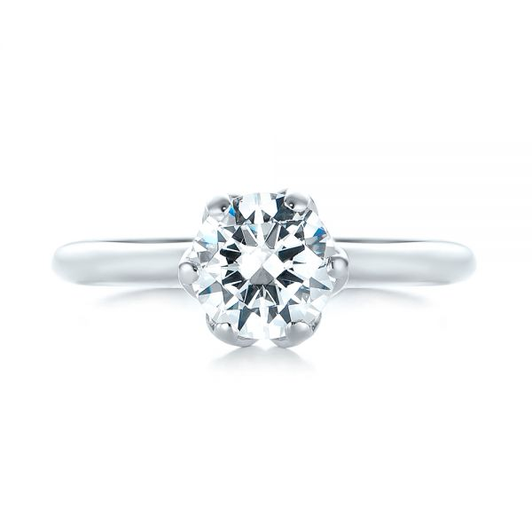 Solitaire Diamond Engagement Ring - Top View -  103296 - Thumbnail