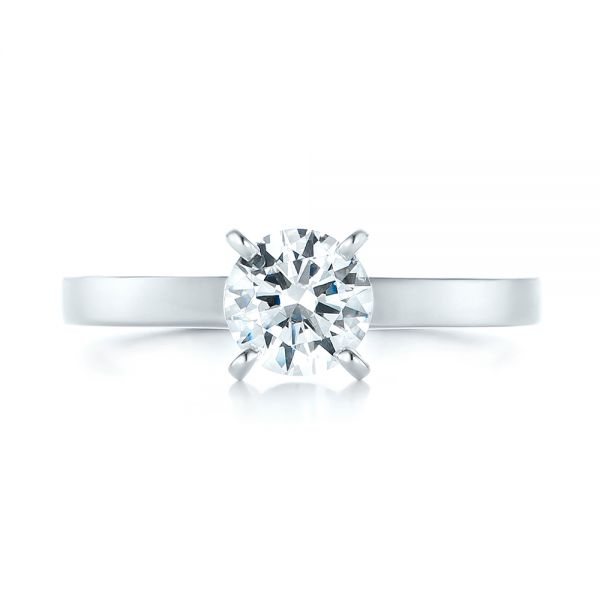 Solitaire Diamond Engagement Ring - Top View -  103421 - Thumbnail