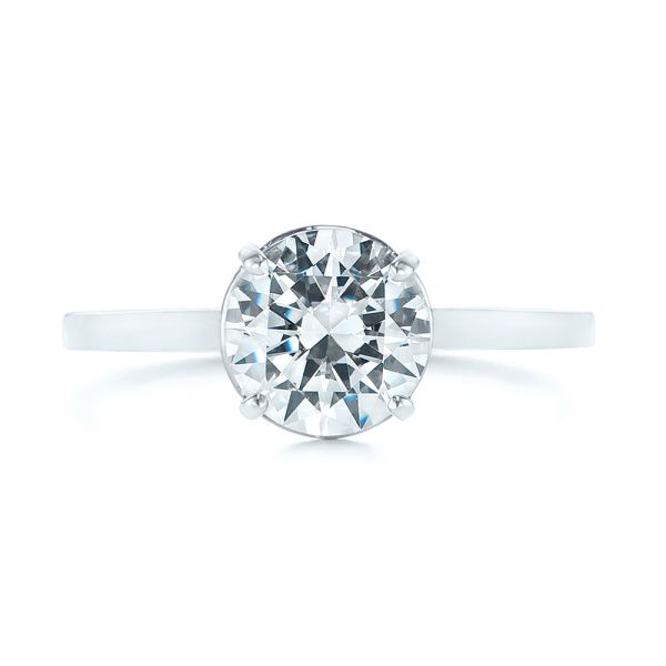 Solitaire Diamond Engagement Ring - Top View -  104008 - Thumbnail