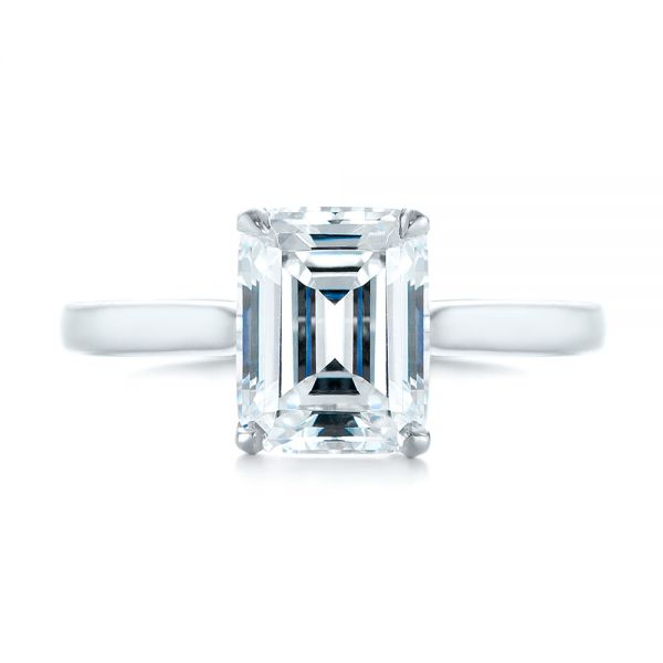 Solitaire Diamond Engagement Ring - Top View -  104210 - Thumbnail