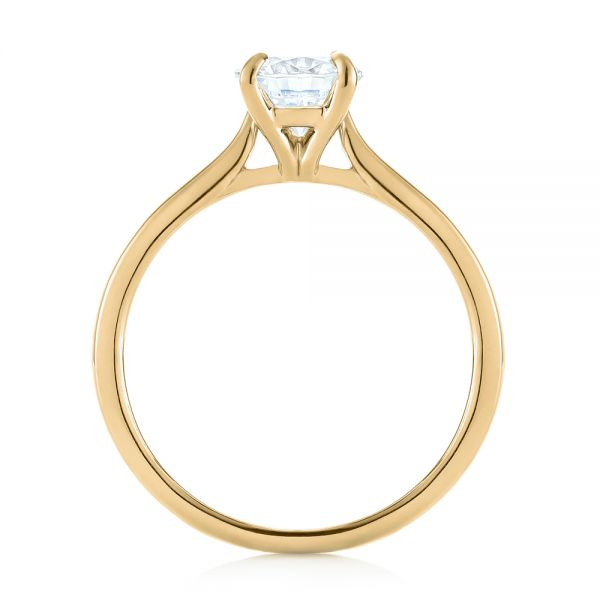 14k Yellow Gold 14k Yellow Gold Solitaire Diamond Engagement Ring - Front View -