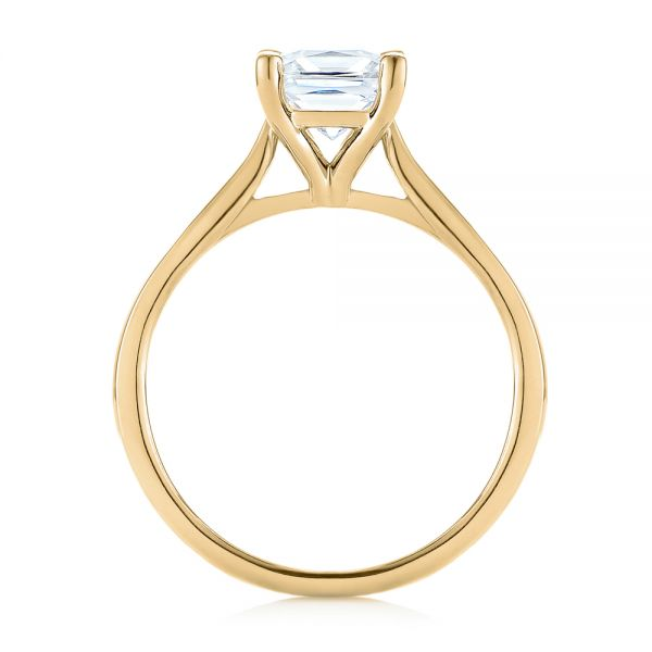 18k Yellow Gold 18k Yellow Gold Solitaire Diamond Engagement Ring - Front View -  104180