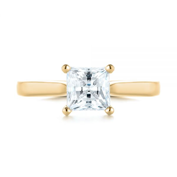 18k Yellow Gold 18k Yellow Gold Solitaire Diamond Engagement Ring - Top View -  104180