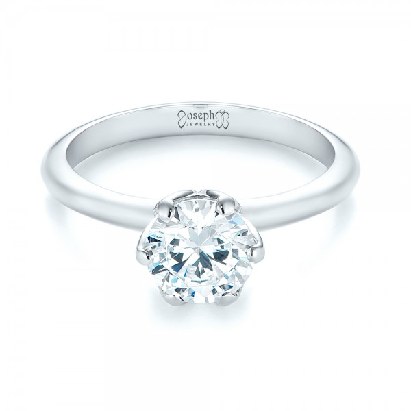 Solitaire Diamond Engagement Ring - Laying View
