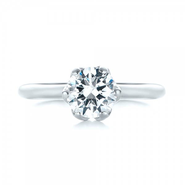 Solitaire Diamond Engagement Ring - Top View