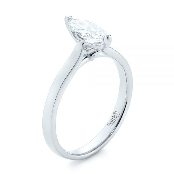 Solitaire Marquise Diamond Engagement Ring - Image