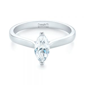 Solitaire Marquise Diamond Engagement Ring