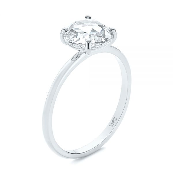 Solitaire Rose Cut Diamond Engagement Ring - Image