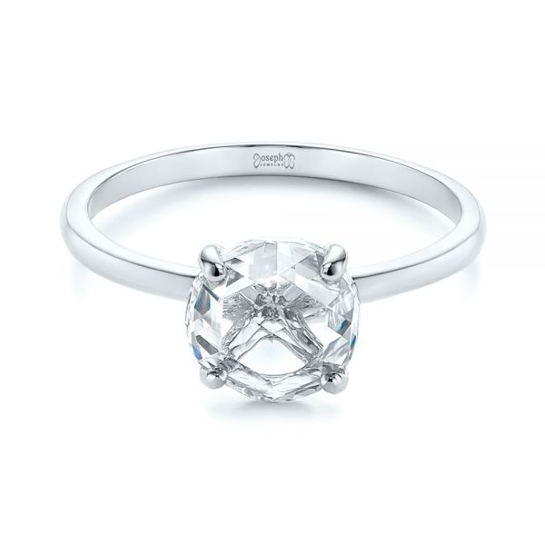 Solitaire Rose Cut Diamond Engagement Ring