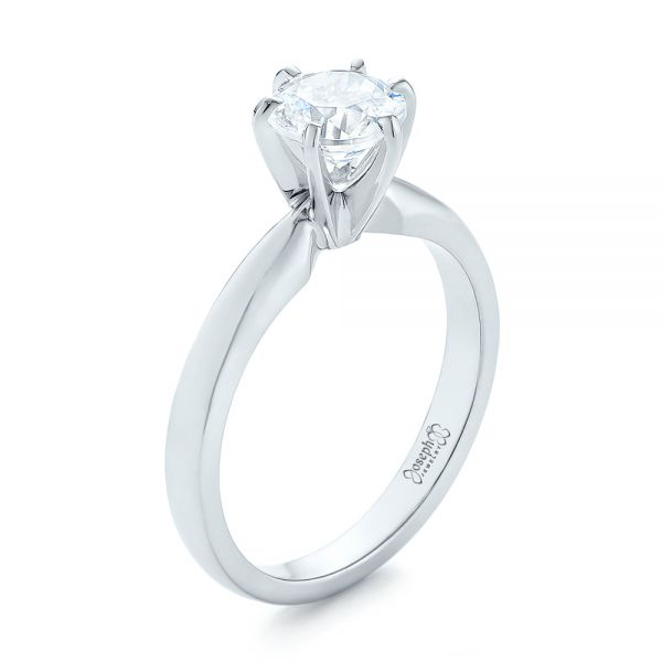 Solitaire Six Prong Engagement Ring - Image