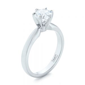 Solitaire Six Prong Engagement Ring