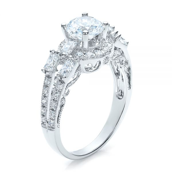 Split Shank Baguette Diamond Engagement Ring - Vanna K