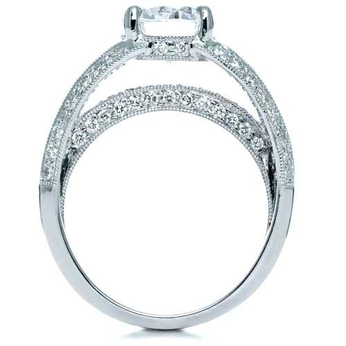 Split Shank Diamond Engagement Ring - Parade - Top View