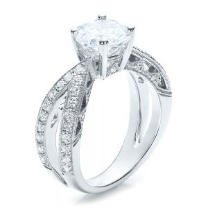 Split Shank Diamond Engagement Ring - Vanna K - Image