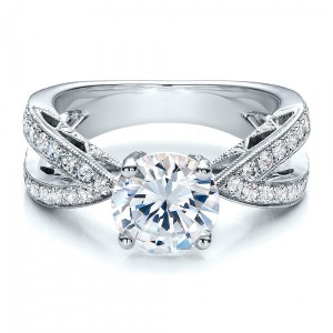 Split Shank Diamond Engagement Ring - Vanna K
