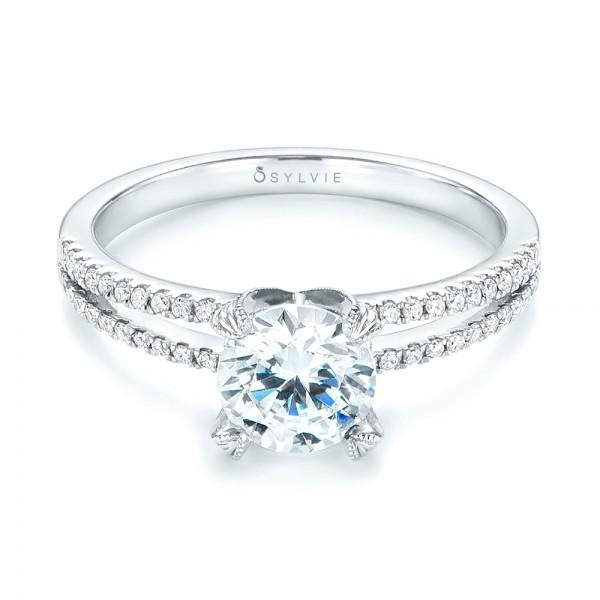 Split Shank Diamond Engagement Ring - Laying View