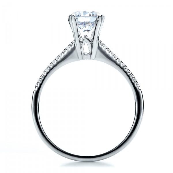 Split Shank Engagement Ring - Vanna K - Finger Through View